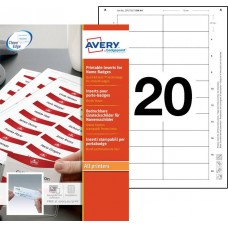 Avery 7527 Namnskyltsinstick till 4836-M, 75x27mm , 10ark