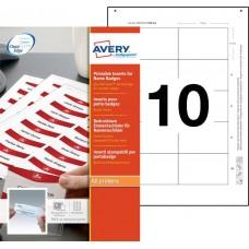 Avery 7547 Namnskyltsinstick till 4838G-M, 75x47mm, 10ark
