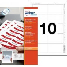Avery 8554 Namnskyltsinstick till 4837G-L, 4838G-L, 85x54mm, 10ark