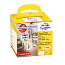 Avery A1933084 Heavy Duty etiketter 32x57mm, rulle med 400stk