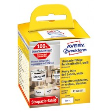Avery A1976411 Heavy Duty etiketter 25x54mm, rulle med 160stk