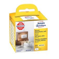 Avery Försändelseetiketter på rulle 101x54mm, AS0722430, 220st