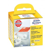 Avery Universaletiketter på rulle 70x54mm, AS0722440, 320st