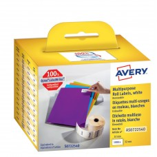 Avery Universaletiketter på rulle Avtagbara 57x32mm, AS0722540, 1000st