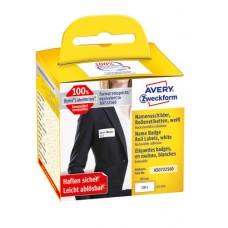 Avery AS0722560 Avtagbara namnskyltar 41x89mm, rulle med 200stk
