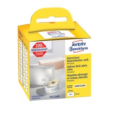 Avery adressetikett på rulle 89x36mm, ASS0722400, 260st