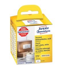 Avery Försändelseetiketter på rulle 101x54mm,ASS0722430, 110st