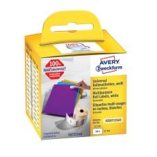 Avery Universaletiketter på rulle Avtagbara 57x32mm, ASS0722540, 500st