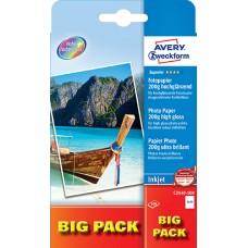 Avery C2549-100 10x15 Foto Kort, 200 g, premium, 10x15cm 100 ark
