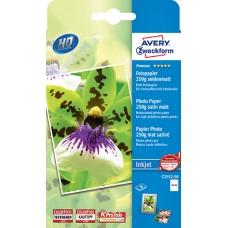 Avery C2552-50 Foto Kort, 250g, microporous silk finish, 10x15cm 50ark