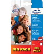 Avery C2570-100 Foto Kort, 180 g, premium glättat, 10x15cm 100 ark