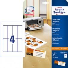 Avery C32253-25 placeringskort 185g 110x40mm 25 x 4 kort