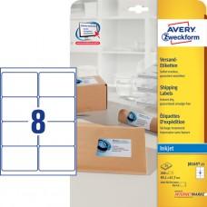 Avery J8165-25 QuickDry Adressetiketter stora kuvert 99.1x67.7mm 25ark