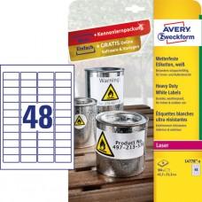 Avery L4778-8 Extra slitstarka etiketter 45,7x21,2mm 8ark