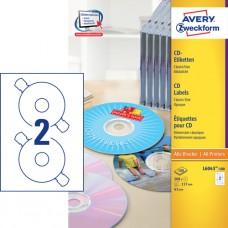 Avery L6043-100 Klassiska CD-etiketter, matt, ø 117mm, 100 ark