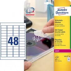 Avery L6113-20 Etiketter STOP-meddelanden 45,7x21.2mm 20ark