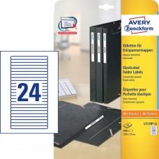 Avery L7170-25 Eurofolio etiketter, 134 x 11mm, 25ark, 24stk. pr. ark