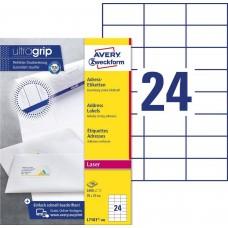 Avery L7181-100 Adressetiketter för brev och paket 70x37mm 100ark