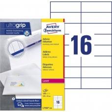 Avery L7182-100 Adressetiketter för brev och paket 105x37mm 100ark