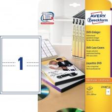 Avery L7436-25 DVD-omslag För alla skrivare, 273x183mm