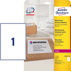Avery L7997-25 Väderbeständiga paketetiketter189,6 89,1 25 x 1 etiket