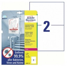 Antimikrobielle vita etiketter 210x148mm Avery L8002-10