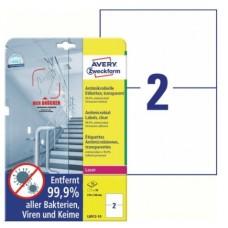 Antimikrobielle blanka etiketter 210x148mm Avery L8012-10