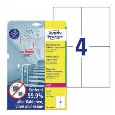 Antimikrobielle blanka etiketter 105x148mm Avery L8013REV-10
