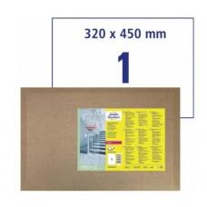 Antimikrobielle blanka etiketter A3, 320x450mm Avery L8015REV-5
