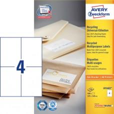 Avery LR3483 Adressetiketter stora kuvert, 105 x 148mm 4 st x100 ark