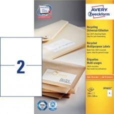 Avery LR3655 Frakt-etiketter för paket, 210x148mm 100ark