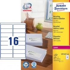 Avery LR7162-100 QuickPEEL adressetiketter, 99.1 x 33.9mm, 100ark