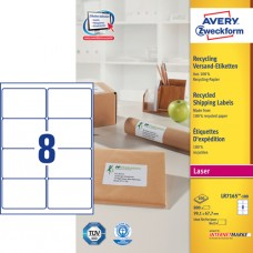 Avery LR7165-100 QuickPEEL fraktetiketter, 99.1x67.7mm 100 ark