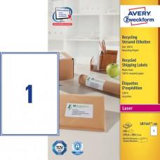 Avery LR7167-100 QuickPEEL Fraktetiketter 199,6x289,1mm 100ark