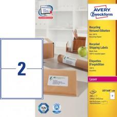 Avery LR7168-100 QuickPEEL fraktetiketter, 199.6x143.5mm 100 ark