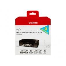Canon 4868B018 Bläckpatronspaket PGI-29 MBK/PBK/DGY/GY/LGY/CO