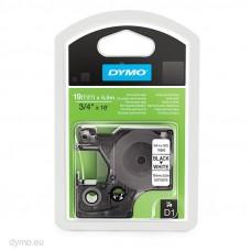 DYMO 16960 D1 Tape Permanent 19mm x 5,5m sort på hvid, S0718070