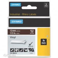 DYMO Rhino 1805412 Vinyl tape 12mm x 5,5m hvid på brun
