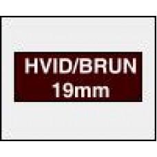 DYMO Rhino 1805418 Vinyl tape 19mm x 5,5m hvid på brun