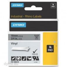DYMO Rhino 1805419 Vinyl tape 19mm x 5,5m sort på grå