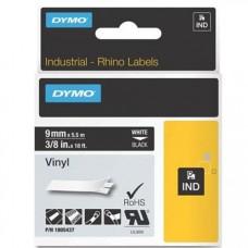 DYMO RhinoPRO 1805437 Vinyl tape 9mm x 5,5m hvid på sort