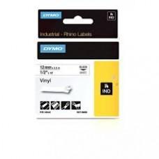 DYMO Rhino 18444 Vinyl tape 12mm x 5,5m sort på hvid