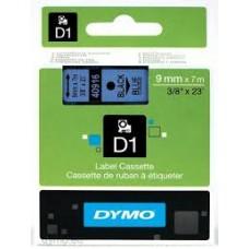 DYMO 40916 D1 Tape 9mm x 7m sort på blå, S0720710