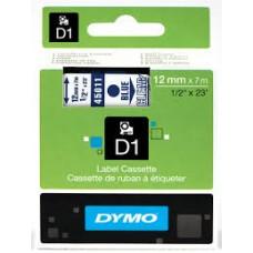 DYMO 45011 D1 Tape 12mm x 7m blå på klar, S0720510