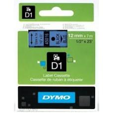 DYMO 45016 D1 Tape 12mm x 7m sort på blå, S0720560