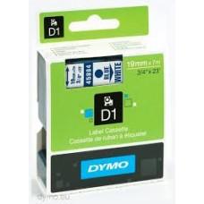 DYMO 45804 D1 Tape 19mm x 7m blå på hvid, S0720840