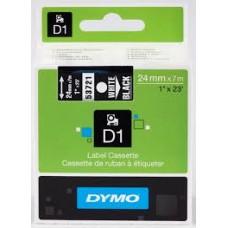 DYMO 53721 D1 Tape 24mm x 7m hvid på sort, S0721010