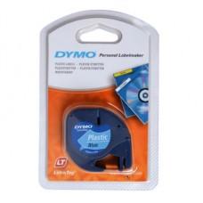 DYMO LetraTAG 91225 sort tekst på blå plasttape 12mm