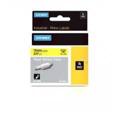 DYMO RhinoPRO krympeflex 19mm x 1,5m sort på gul 18058, S0718340