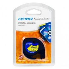 DYMO LetraTAG 91222 sort tekst på gul plasttape 12mm